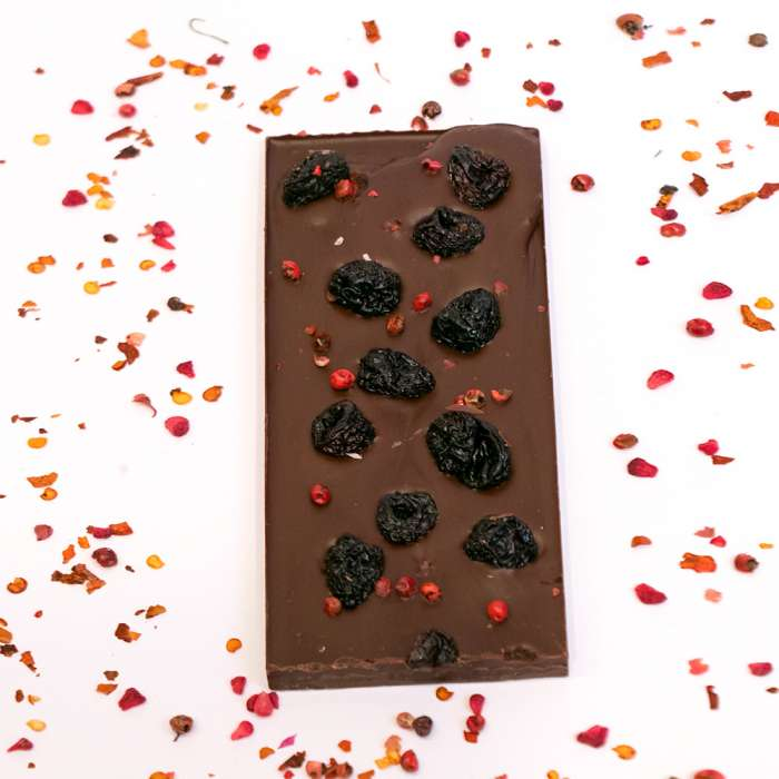 Dark Chocolate with Chilli and Dried Cheriies 3