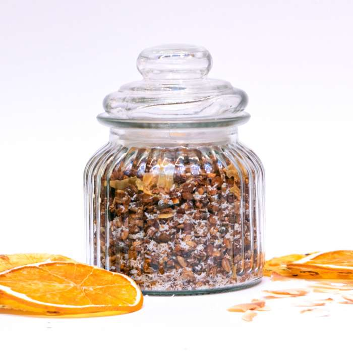 Homemade Granola with citrus and coconut 3