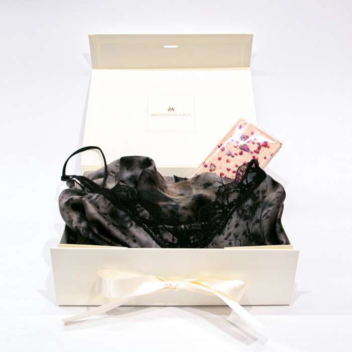 Silk Robe & Chocolate